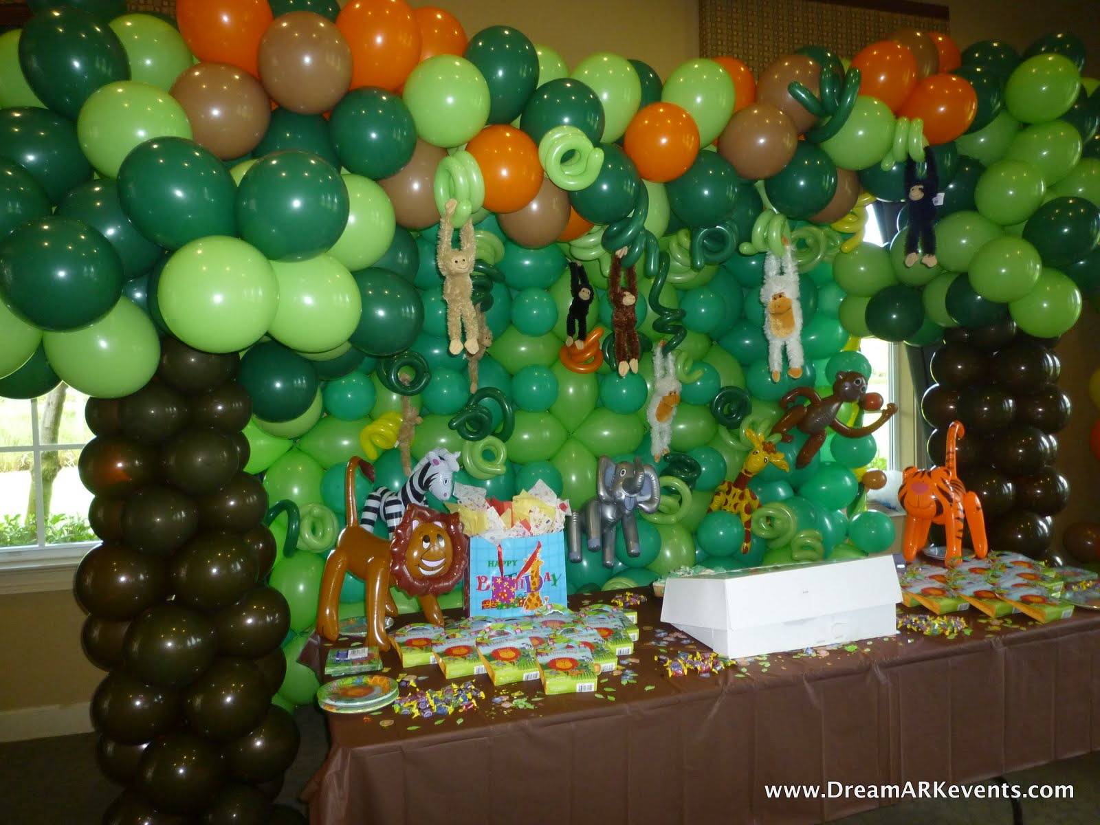 party decoration decor jungle decorations theme birthday themed