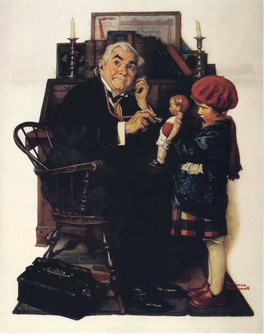 Obra de Rockwell: Doctor and the Doll
