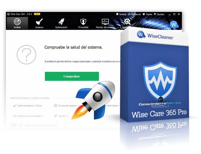 WiseCare 365 Pro - Estabiliza, Asegura y Acelera tu Sistema Windows