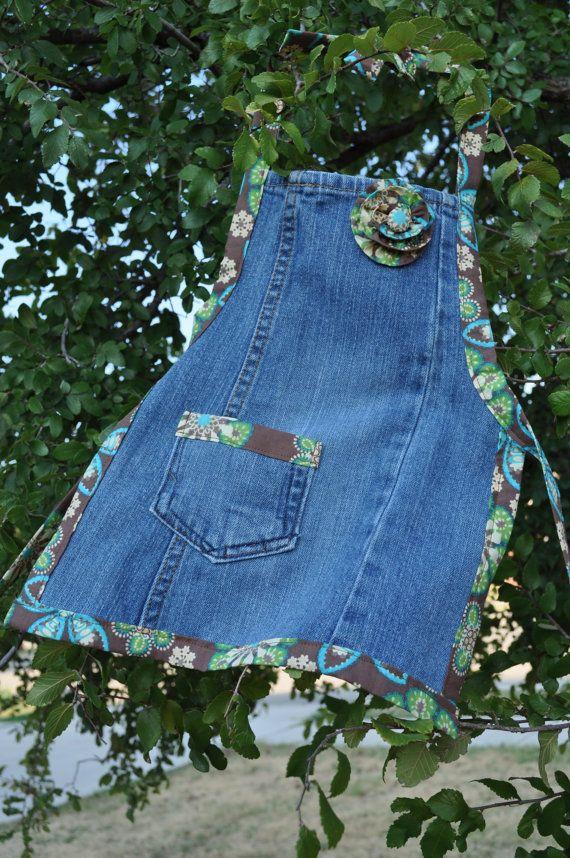 Передник из старых джинсов своими руками мастер класс 66