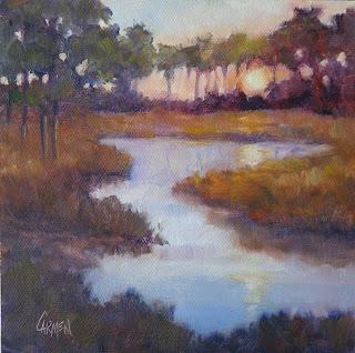 Carmen Beecher Low Country Sunset 6x6