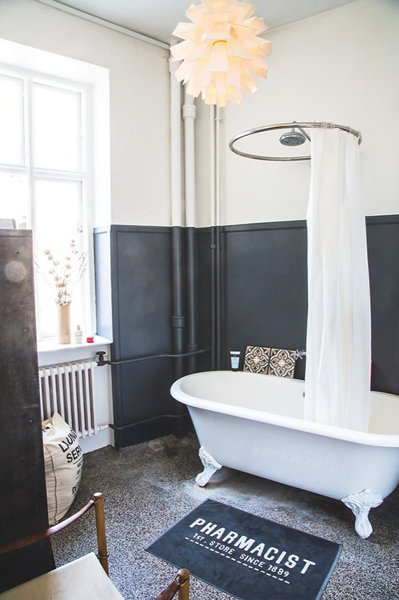 THE ROOM: Industrial bathroom. Image by Camilla Stephen via Bolig