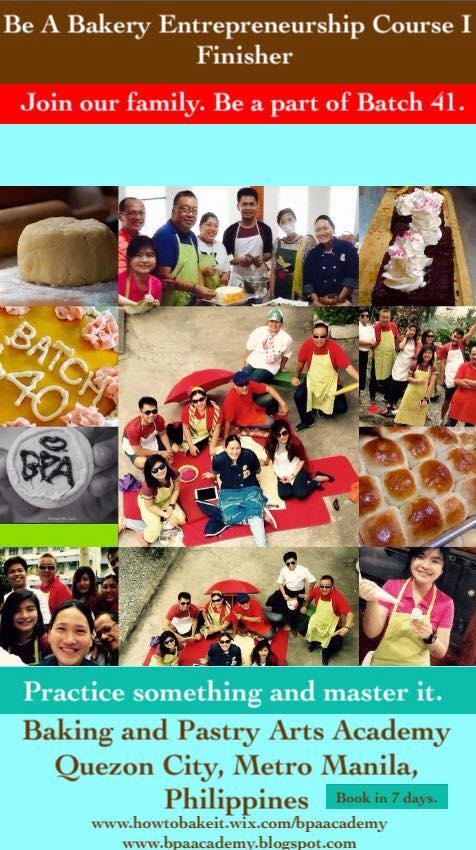 Congratulations Batch 40 of Bakery Entrepreneurship Course I