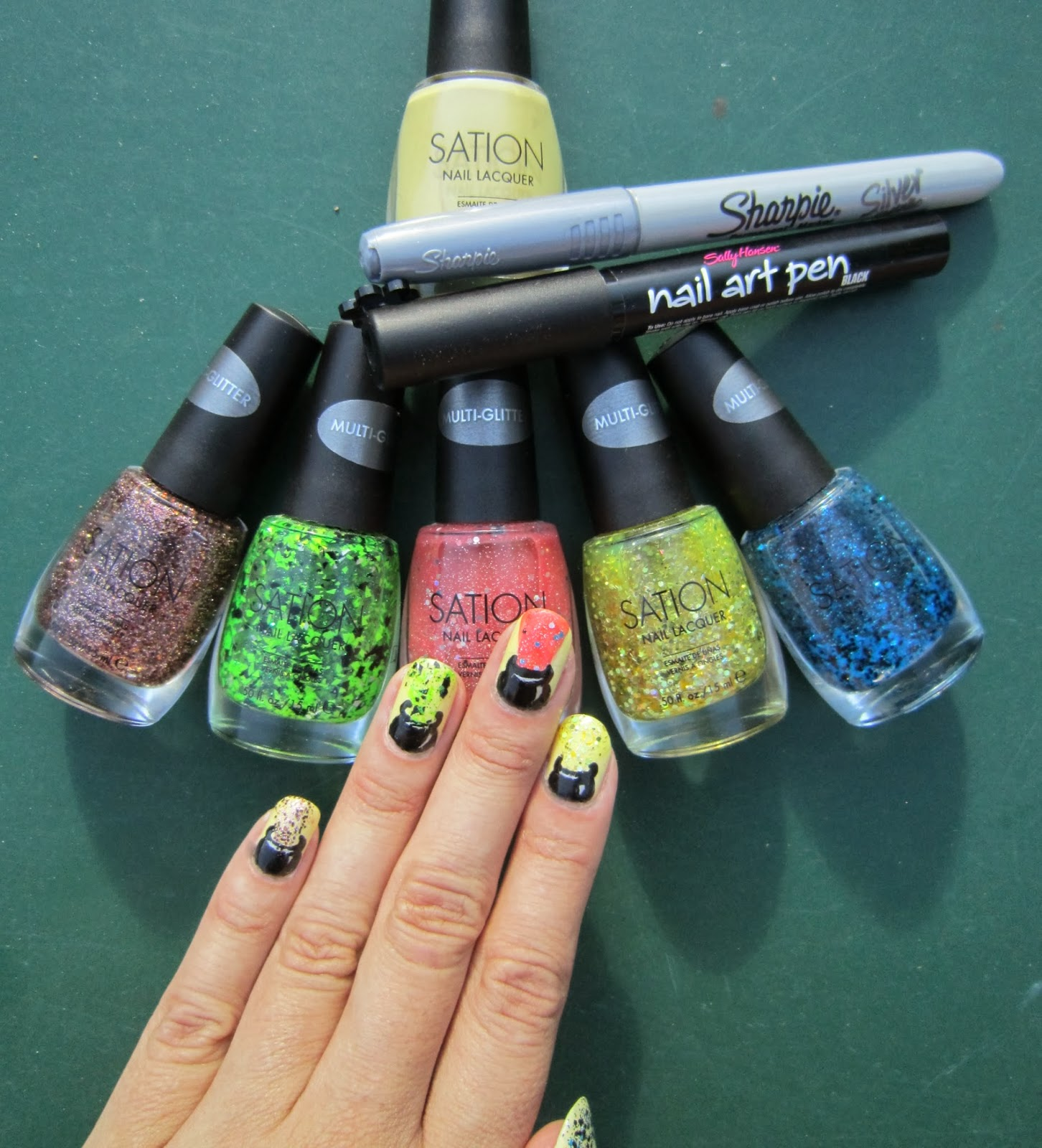 Sation Nail Polish: Concrete And Nail Polish: Witches Cauldron Nails With Sation