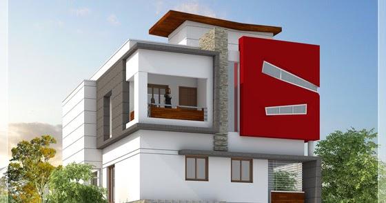 Beautiful Modern 3 Storey House Tamilnadu Villa Kerala