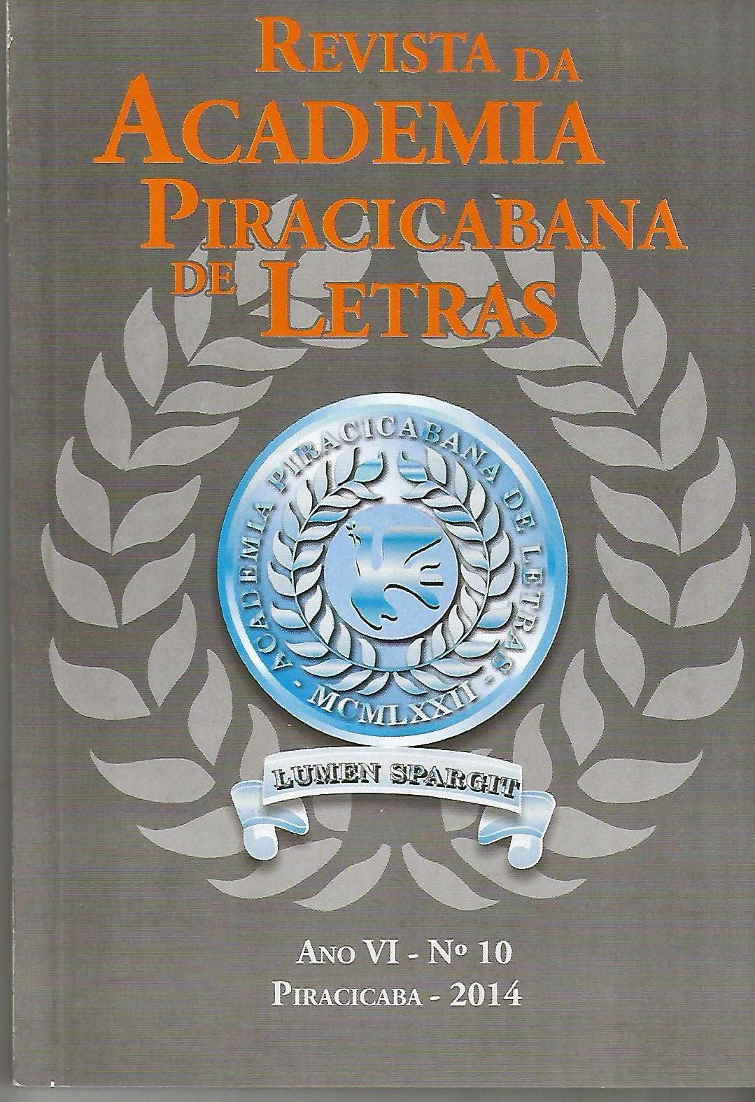 Revista da Academia Piracicabana de Letras - vol 10