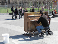 Piano Street Performer image from Bobby Owsinski's Big Picture production blog
