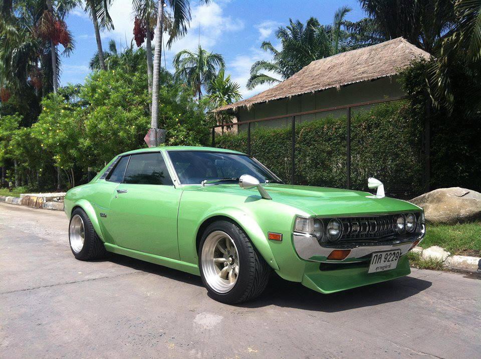 fotki japońskich samochodów, Toyota Celica, klasyk, jdm, I, szybkie, tylnonapędowe, green, zielony, przód