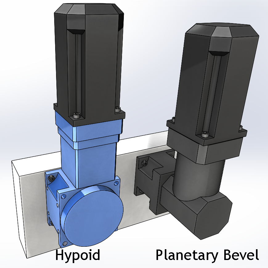 right angle gearbox hypoid