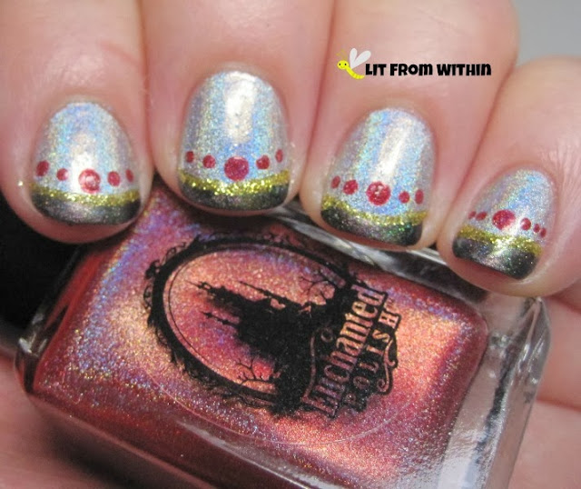 Enchanted Polish November 2013, a pretty reddish holo