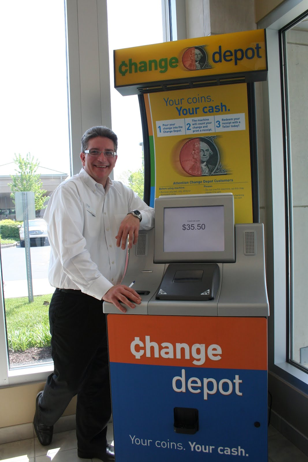 pnc bank coin counter machine