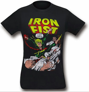 Iron Fist Classic Cover 30 t-shirt from SuperHeroStuff