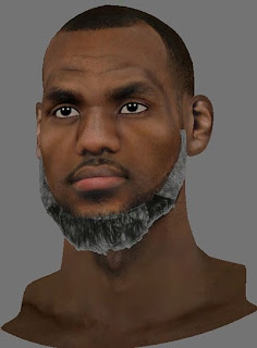 NBA 2K13 LeBron James Converted 2K12 Cyberface