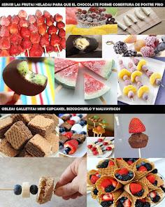 Cascada de chocolate en verano bocaditos y frutas heladas para acompañar