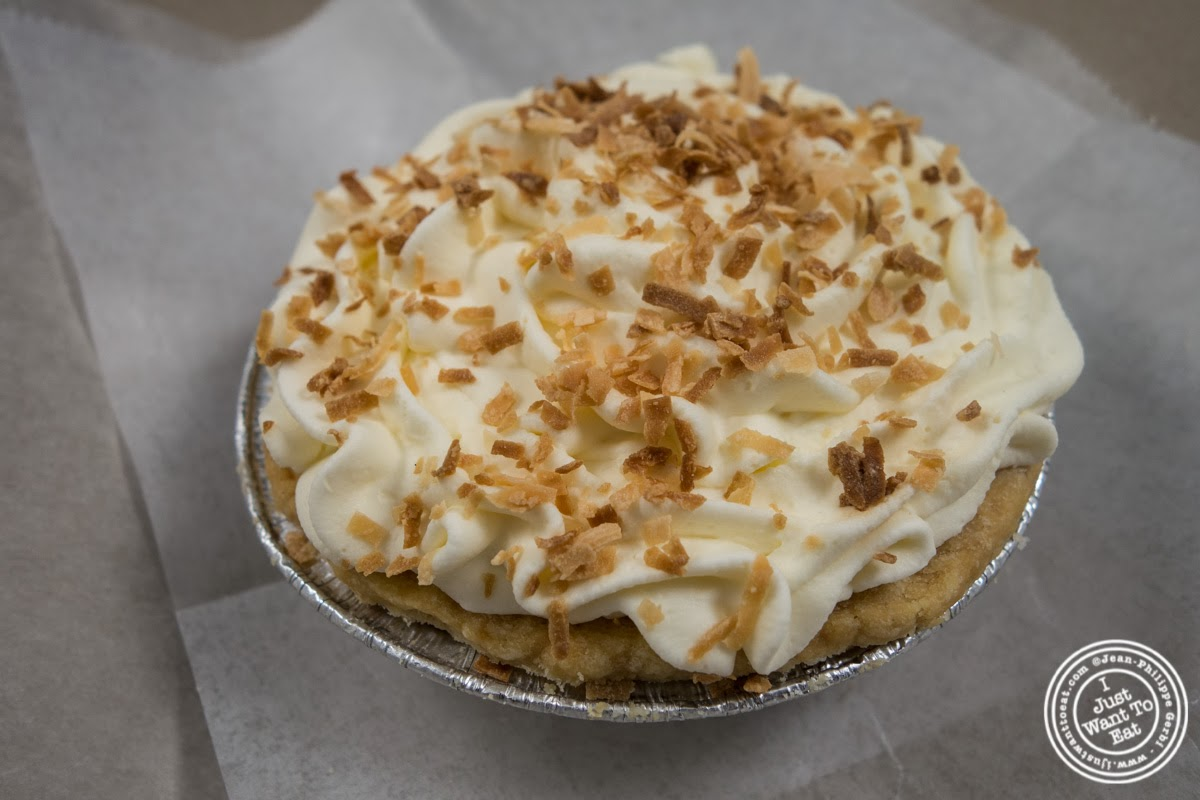 image of banana coconut cream pie at Little Pie Company in NYC, New York