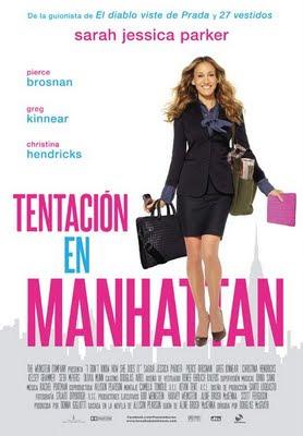 Cartel de la película Tentación en Manhattan