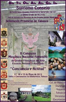 """II CONGRESO MASÓNICO NACIONAL DE GRADOS FILOSÓFICOS """"CONCIENCIA Y ACTTUD"""""""