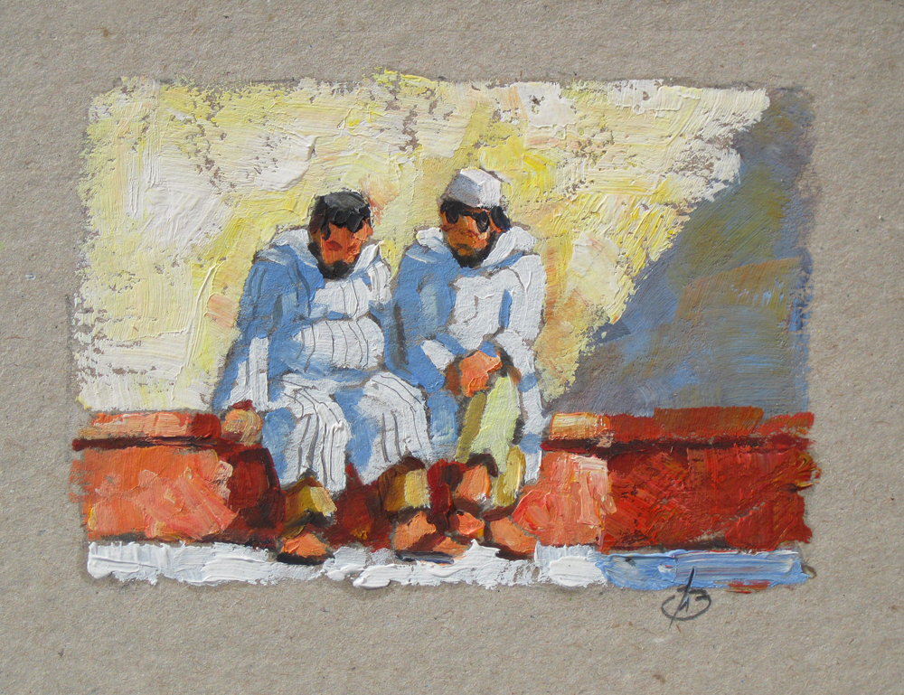tom brown fine art  morocco marketplace by tom brown