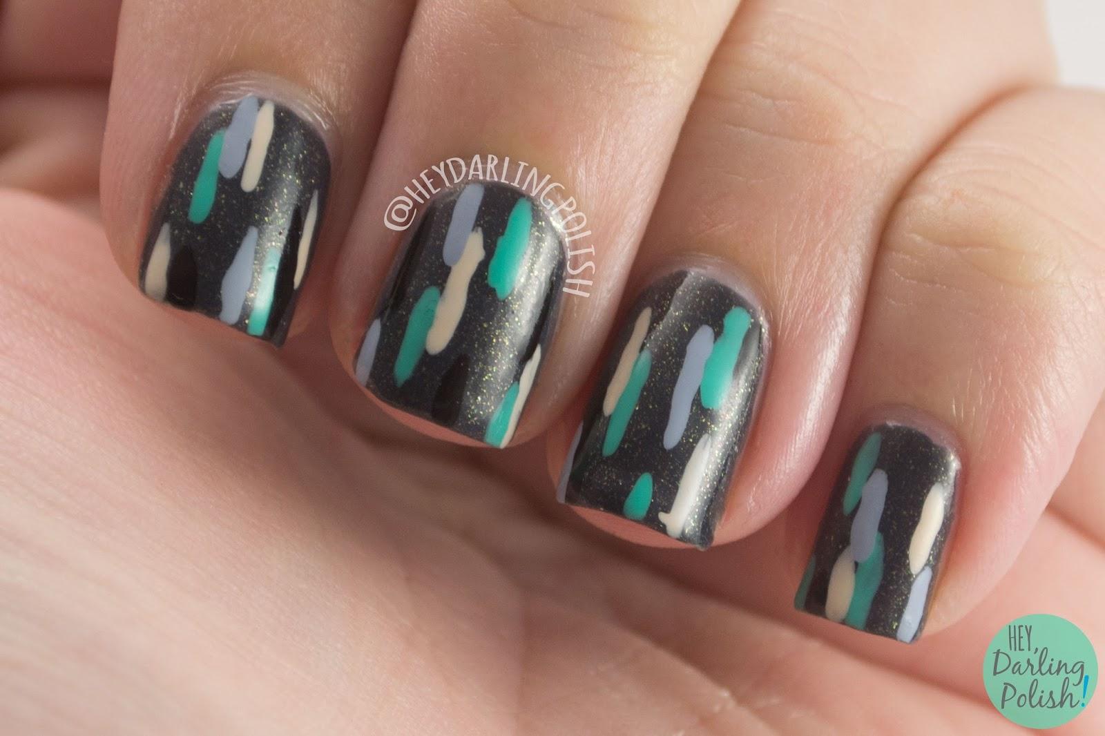 Line Art Nails : Hey darling polish line art part two
