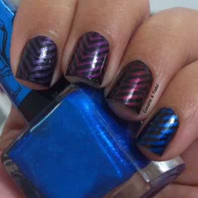 esmalte para carimbo azul