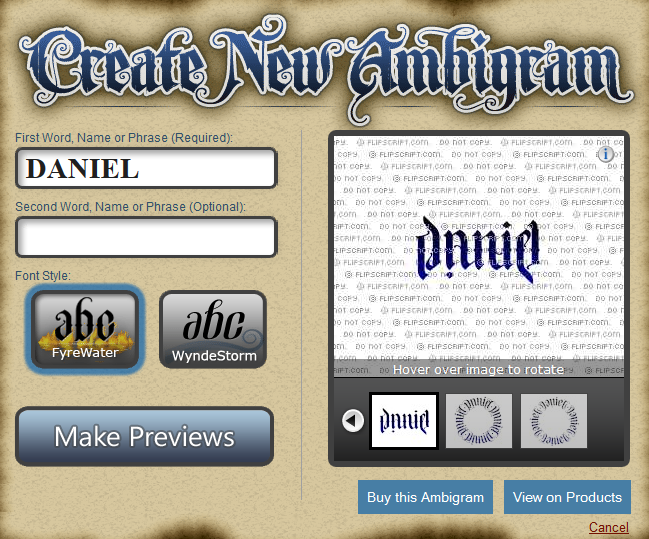 Ambigram Maker Flipscript | Autos Post  Ambigram Free Creator