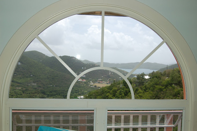 View of Coral Bay St John US Virgin Islands from the Window of Villa Mahr