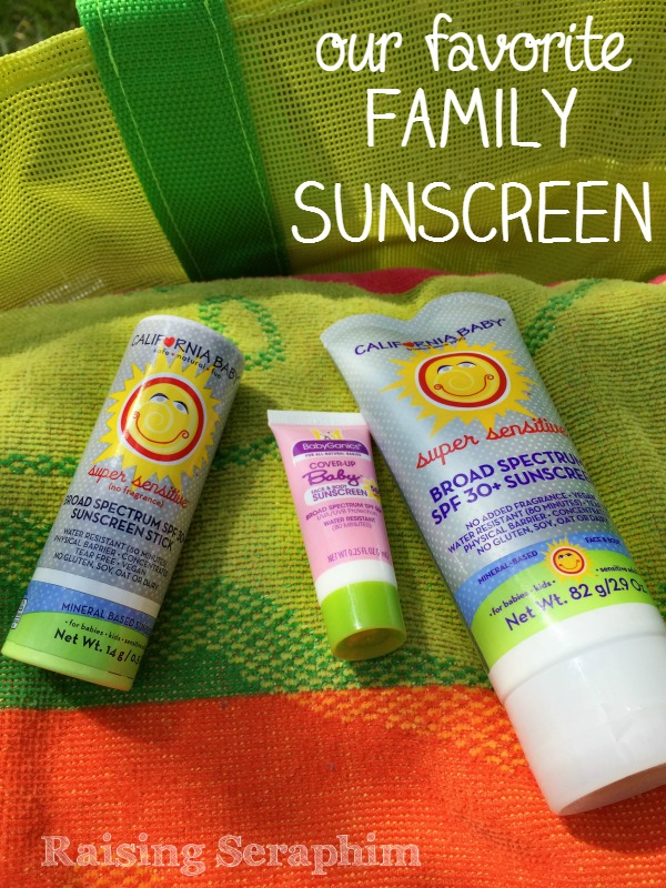 Our family's favorite sunscreen. 3 things to look for when you are looking for sunscreen for your family. Be safe this summer!