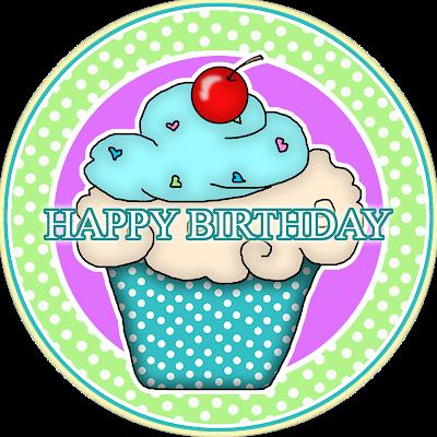 "Free ""Happy Birthday"" Digital Scrapbook Element"