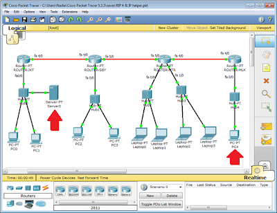 Simulasi network IP helper