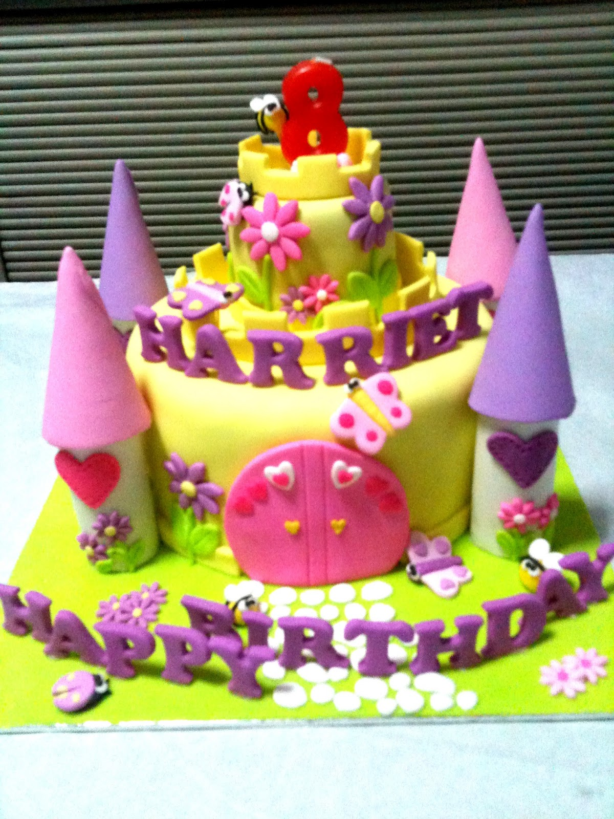 8Th Birthday Cake Ideas http://ovencreations.blogspot.com/2012/03/happy-8th-birthday-harriet.html