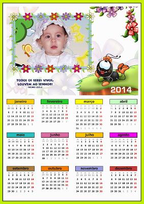 Calendário 2014 - Smilinguido