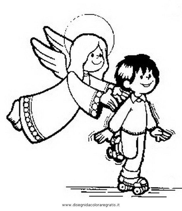 Il paradiso non pu attendere angelo custode dei bambini for Disegni di angeli da colorare per bambini
