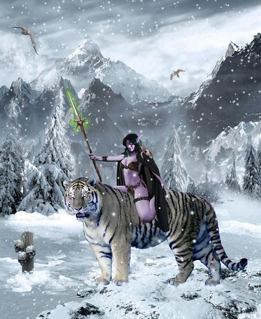 Night Elf Huntress por Kaeloth