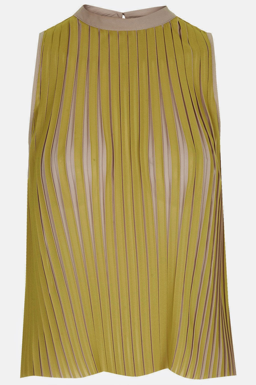 mustard stripe vest