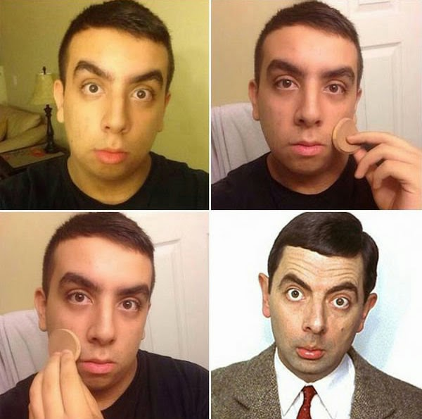#MakeUpTransformation  mister bean