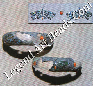 Silver inlaid bracelets of queen Hetep-her-es from Giza
