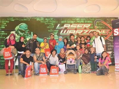 Malaysia, Berita, Gossip, Selebriti, Artis Malaysia, 20, Pembaca, Bertuah, Sertai, Laser War Zone