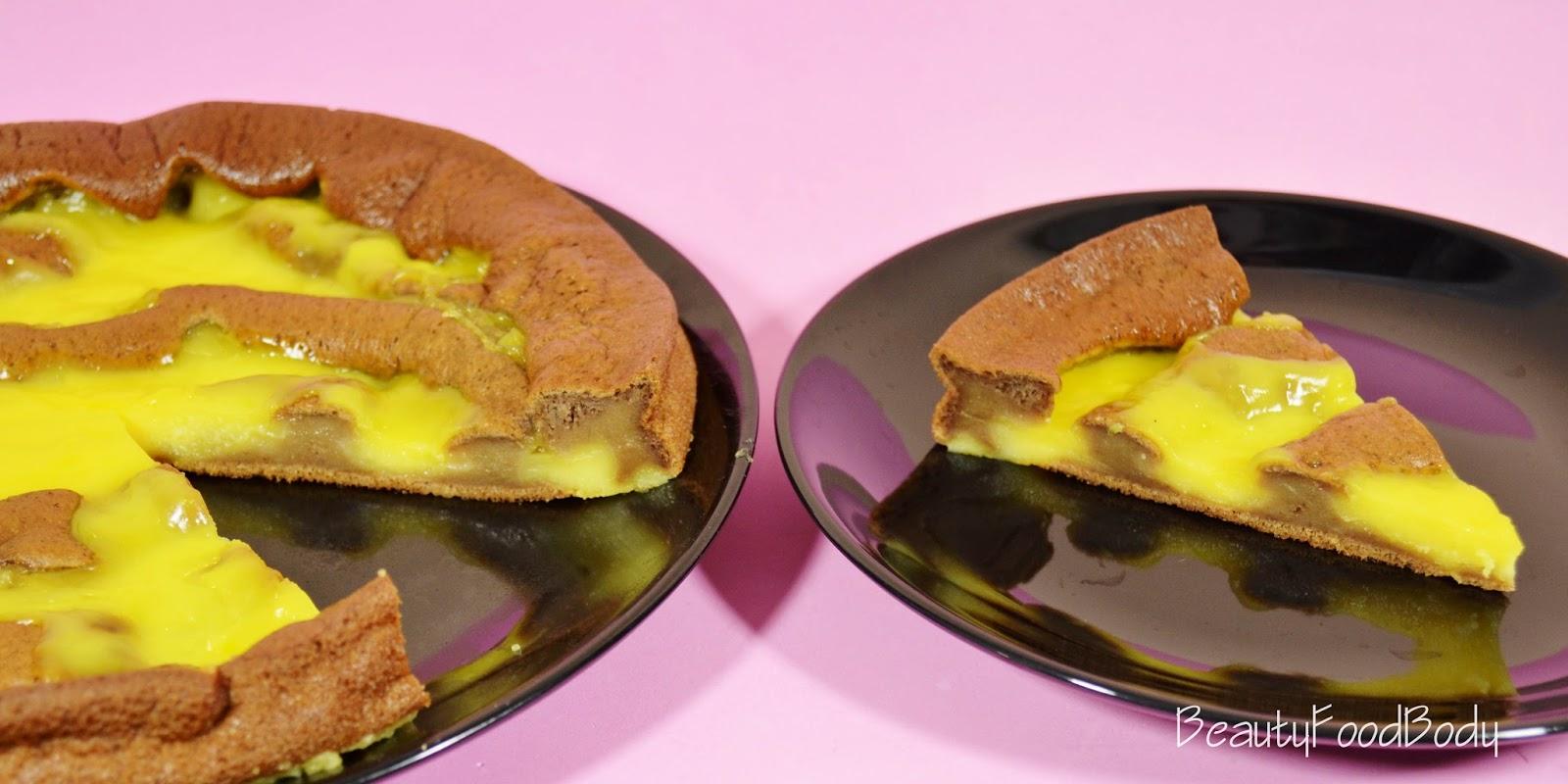 beautyfoodbody food recetas bizcocho de platano sin levadura con flan