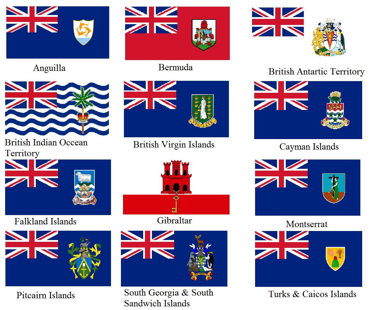 Flag gallery british county flags - Overseas Territories Of The United Kingdom