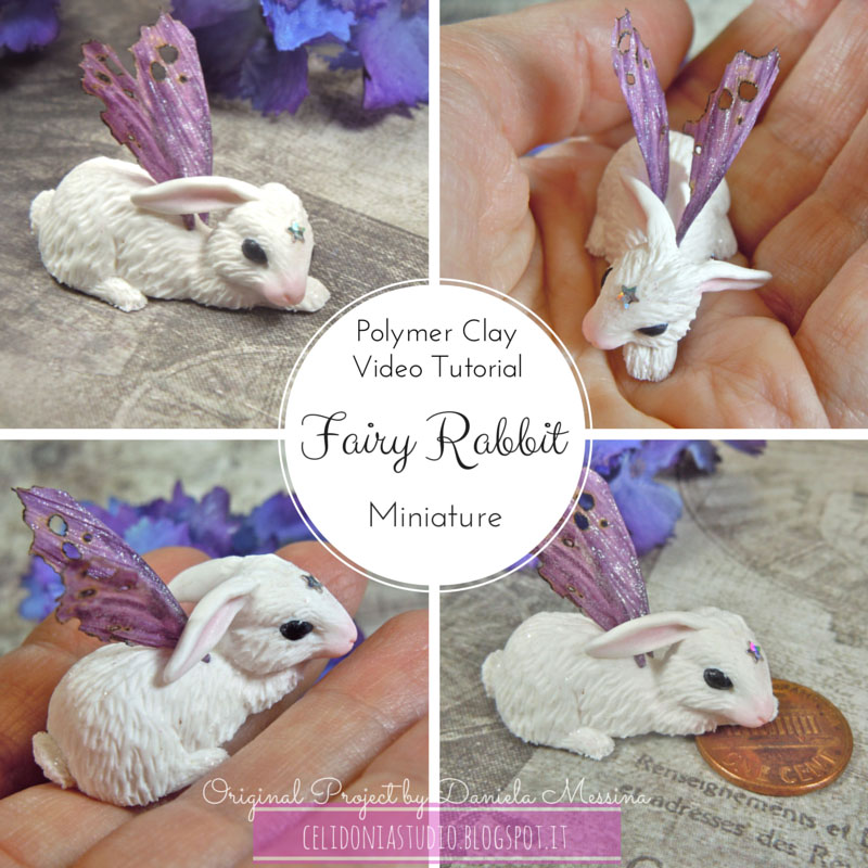Fairy Rabbit Miniature - Polymer Clay Video Tutorial