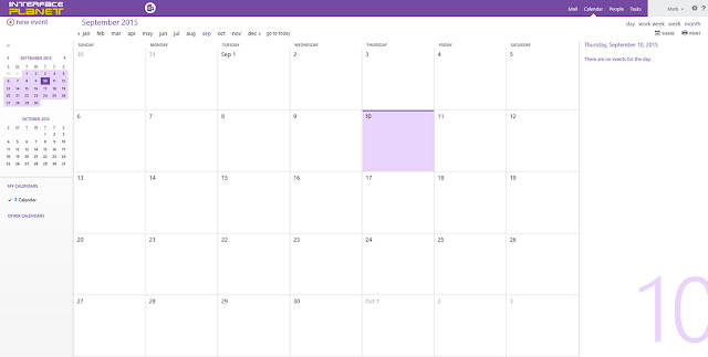 Microsoft Outlook Web App Calendar Page