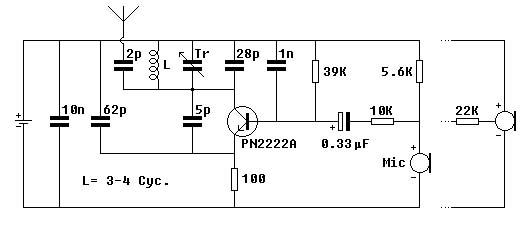 Circuito Simples : Eletrônico transmissores fm simples