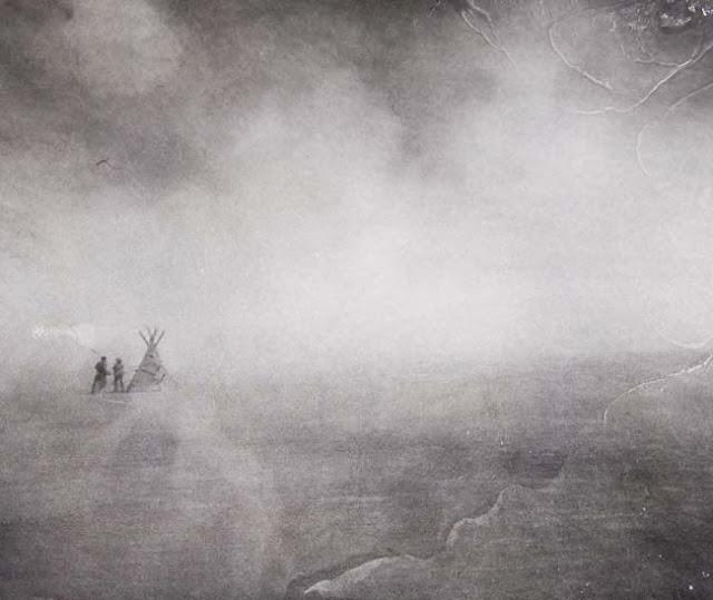burning man playa art during dust storm