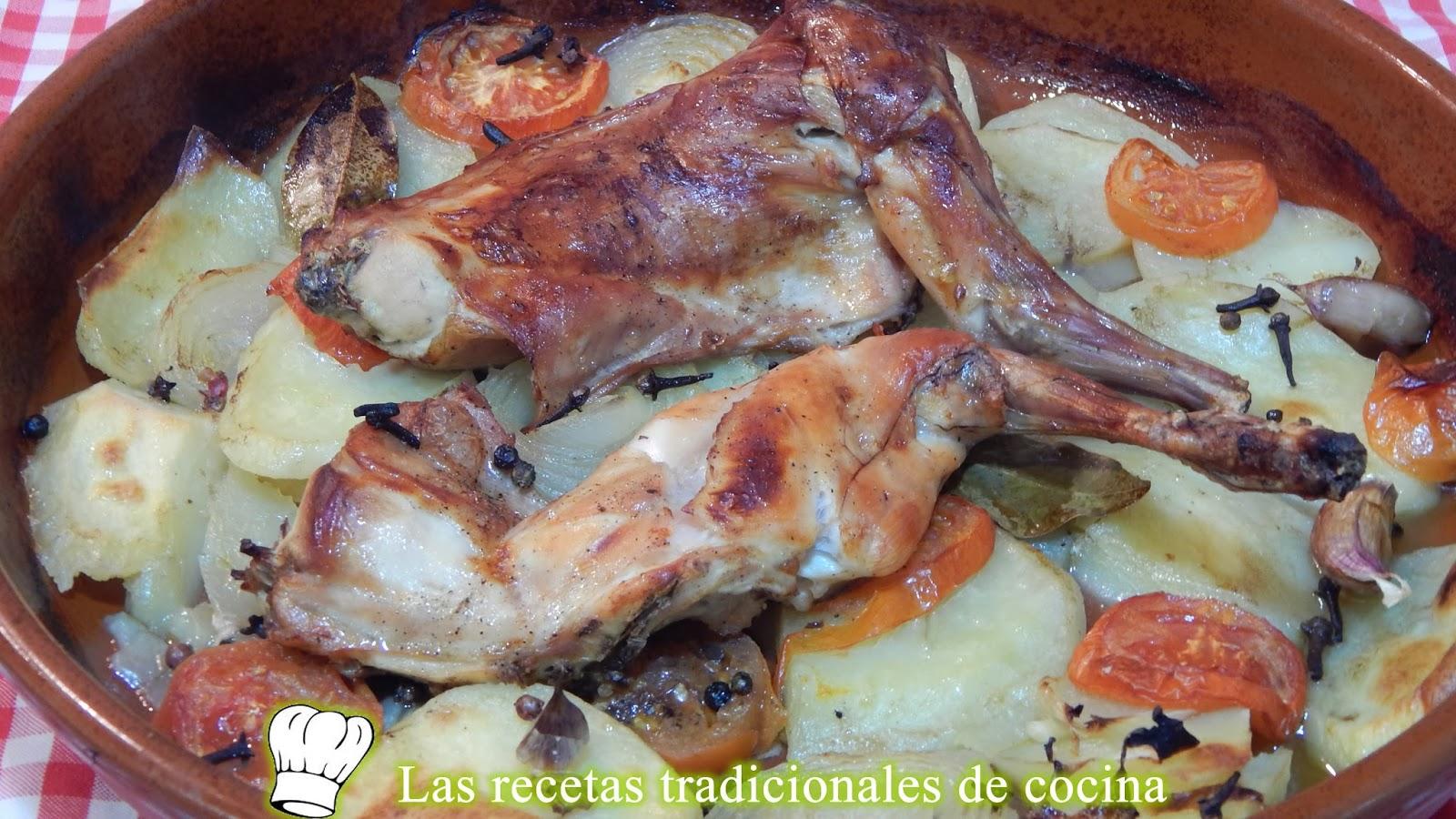 Receta f cil de conejo al horno recetas de cocina con for Cocinar un conejo