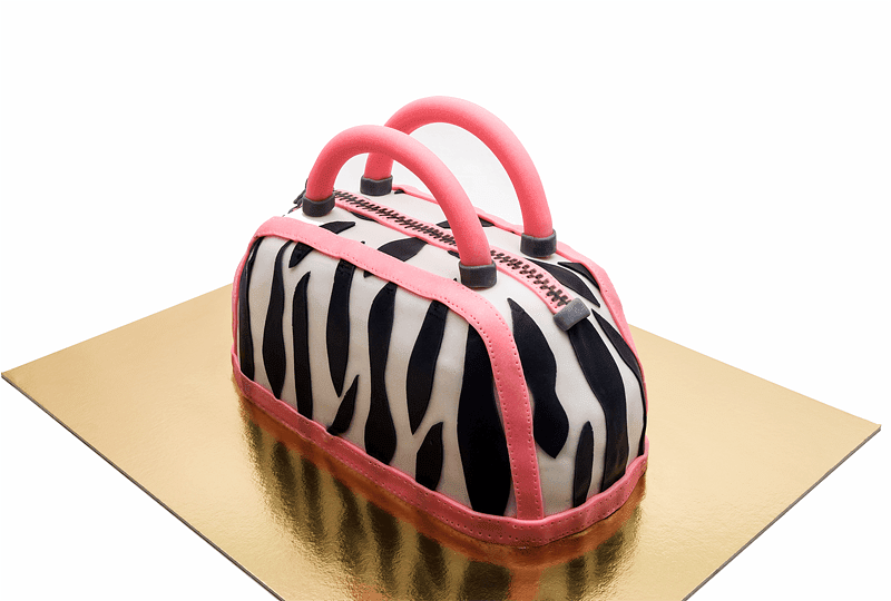 Purse bag fondant cake left side