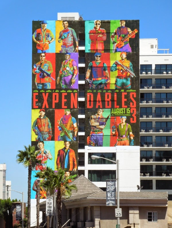 Expendables 3 giant movie billboard
