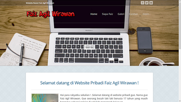 website faiz agil wirawan