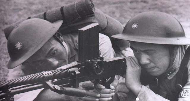 WW2 Chinese nationalist soldiers-NRA machinegunners