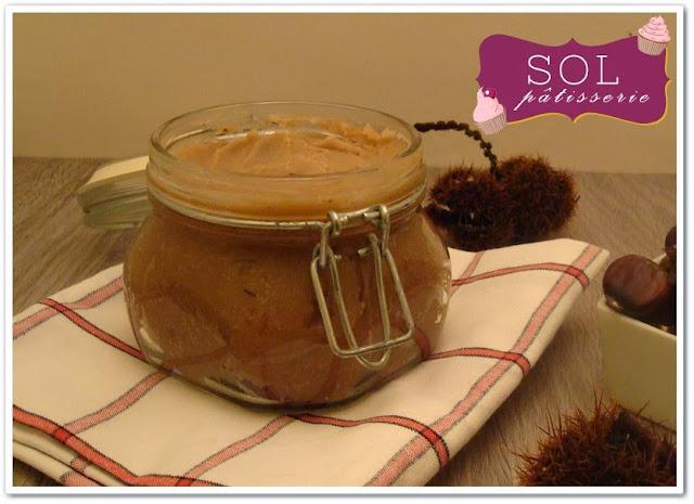 Confiture de châtaignes ou crème de marron à la vanille - Creme de marrom glace baunilhado