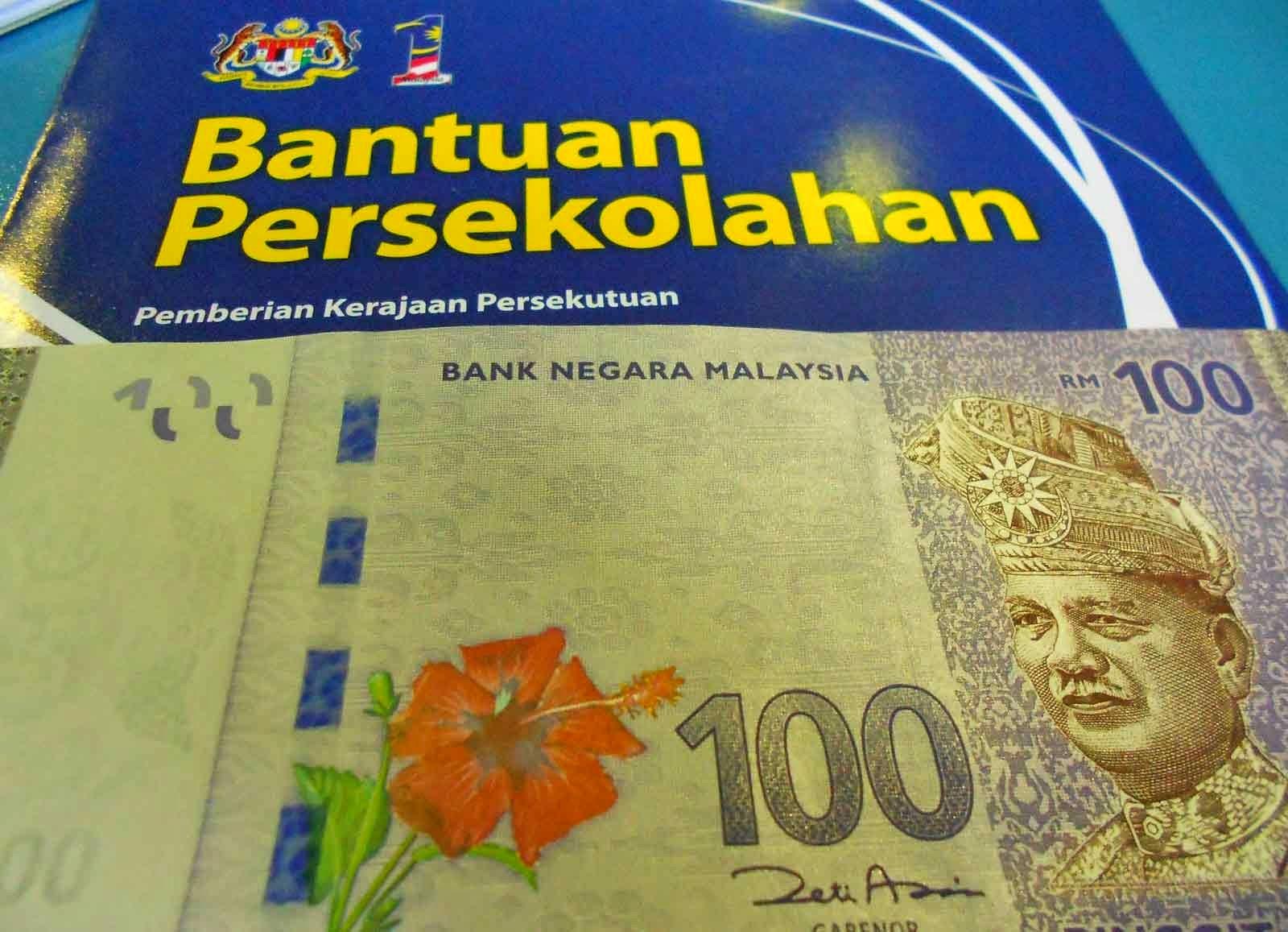Tarikh Bayaran Bantuan RM100 Sekolah Mulai 15 Januari 2015